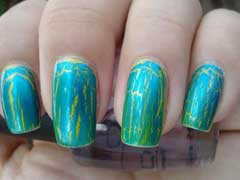 Turquoise Nail Polish Designs